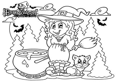 Kleurplaten Heksen by Kleurplaat Heks 2