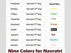 Navratri Color Dress 2018 My blog