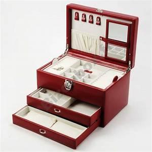 Boite A Bijoux En Bois : boite a bijoux en cuir ~ Teatrodelosmanantiales.com Idées de Décoration