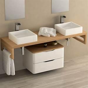 Sol Bois Salle De Bain : parfait plan vasque bois salle de bain 38 sur carrelage de ~ Premium-room.com Idées de Décoration