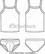 Underwear Singlet Ondergoed Intima Biancheria Pants Drawings Illustratie Vettore Drawing Mannen Voorkant Aanzichten Indietro Fronte Viste Uomini Illustrazione Clip Views sketch template