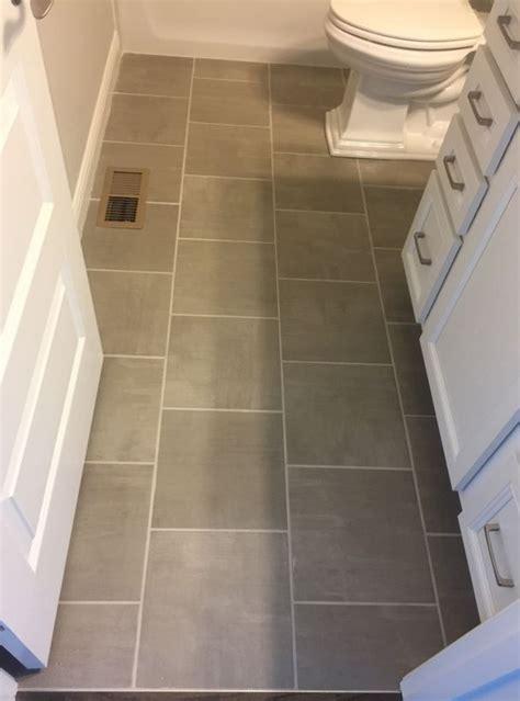 skybridge gray  floor tile installed brick joint