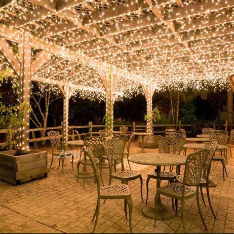 patio string light ideas warm white 500 led 100m string lights tree