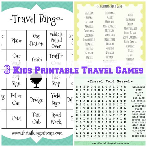 printable travel i printable childrens travel
