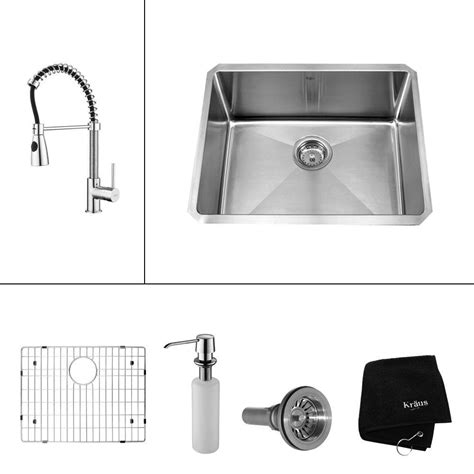 all in one sink kraus all in one undermount stainless steel 23 in single