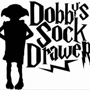 """Harry Potter Dobby Sock Drawer 4"""" Decal from boutiqueautocol"""