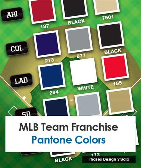 mlb team colors mlb team franchise pms colors phases design studio