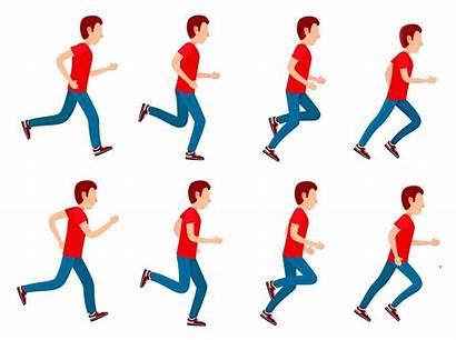 Running Animation Sprite Loop Cartoon Frame Side