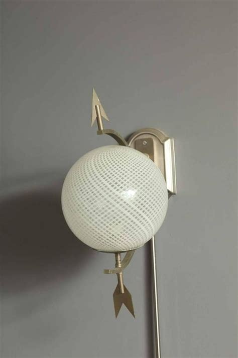pair of italian gio ponti style quot saturn quot wall lights for sale at 1stdibs