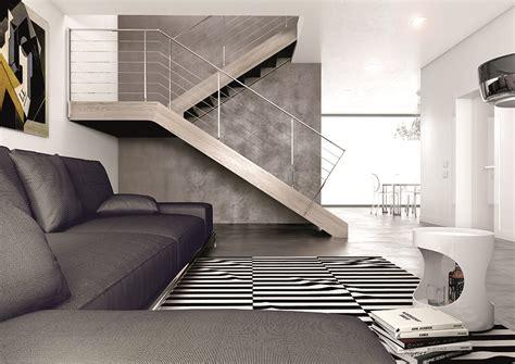 splendide escalier en bois et rambarde inox poli divinox