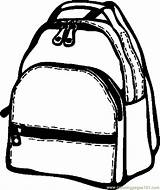 Coloring Backpack Bag Pages Printable Coloringpages101 Pa Getcolorings sketch template