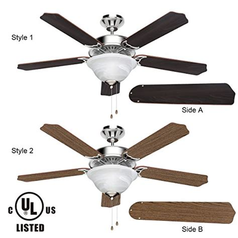 usa free shipping le 52 inch ceiling fan 5 wooden blades