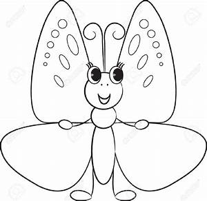 Cute Butterfly Clipart Black And White - ClipartXtras