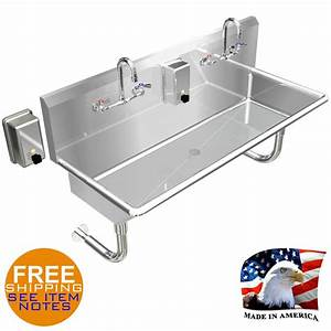 Hand Sink Industrial Multistation 2 Wash Up Basin 48