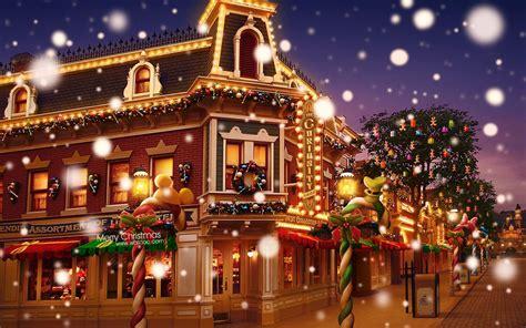 Disneyland Colorful Christmas Wallpaper-1680x1050 Download