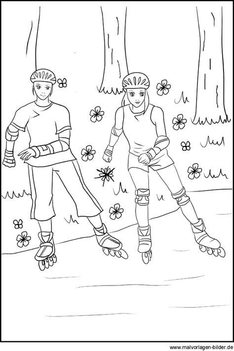 malvorlagen inline skating rollschuhe fahren