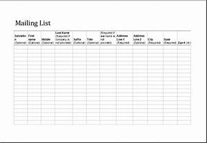 excel mailing list fully customizable template excel With email mailing list template