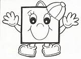Square Coloring Preschool Worksheets Crafts Printable Toddler sketch template