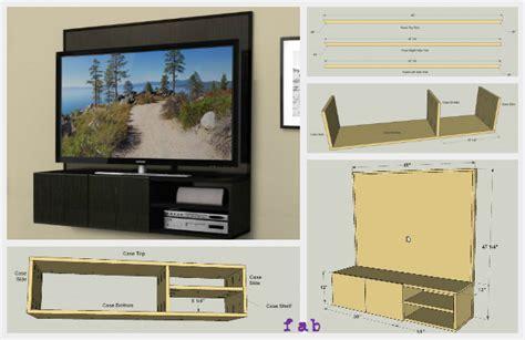diy wall mounted media cabinet  plan