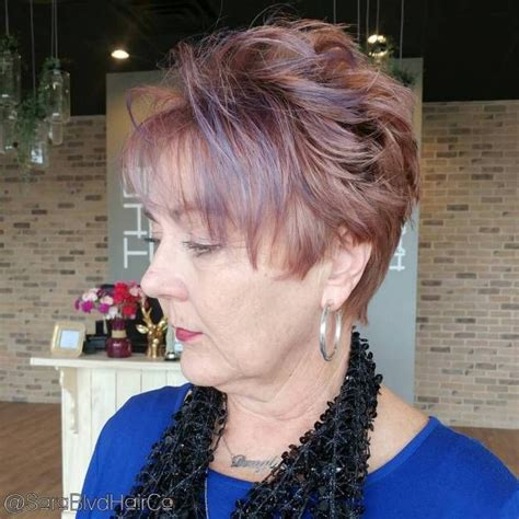 Classy And Simple Short Hairstyles For Women Over In Short Purple Hair Short Hair