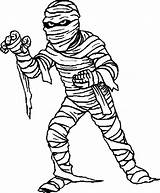 Mummy Coloring Pages Halloween Egyptian Clipart Mummies Drawing sketch template