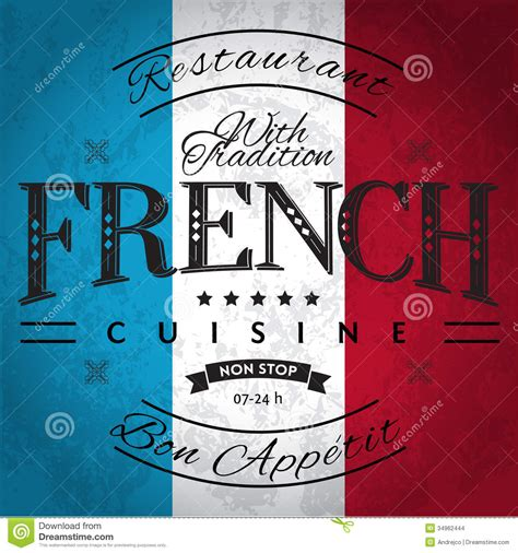 cuisine francais cuisine stock vector image of ribbon tradition