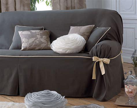 housse de canapé et fauteuil housses fauteuil et canapés bicolores à nouettes becquet