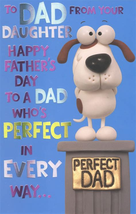 dad  daughter happy fathers day card cards
