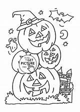 Halloween Coloring Pumpkins Pages Printable Pumpkin Drawing 4kids Sheets Happy Holidays Getdrawings Designs sketch template