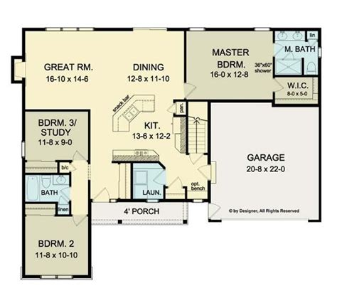 cool open floor plans ranch homes new home plans design