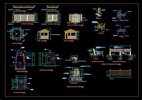 urban furniture dwg detail  autocad designs cad