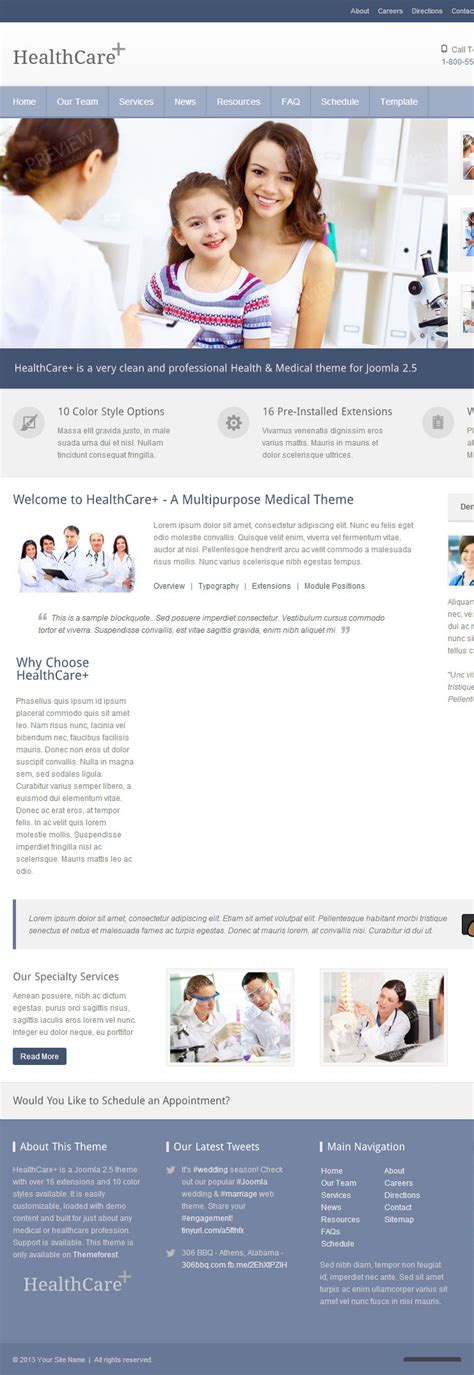 Black Responsive Joomla Template by Healthcare Joomla Premium Responsive Medical Theme