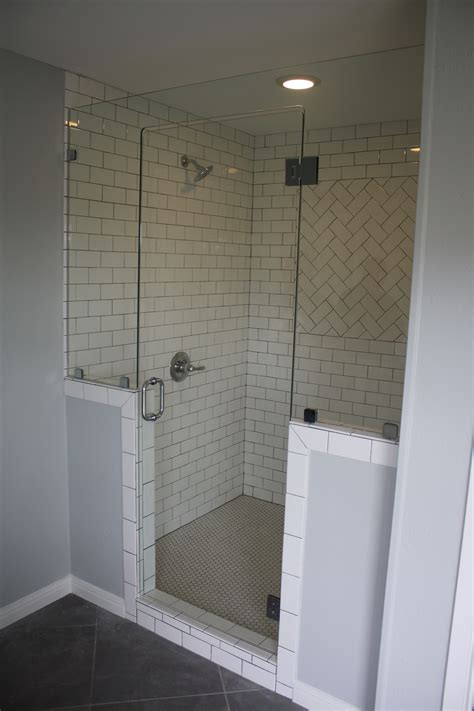 walk in shower designs for small bathrooms hgtv s fixer frameless glass shower enclosure by