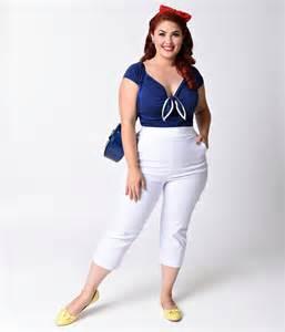 Plus Size White Capri Pants
