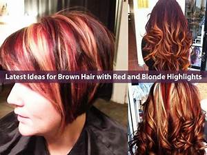 Brown Hair With Red And Blonde Highlights - Brown Hairs