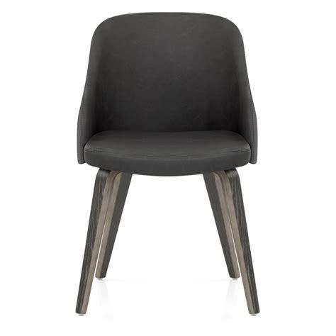 chaise bois gris chaise faux cuir et bois fusion monde du tabouret