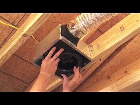 broan bathroom fan installation instructions broan nutone invent bath fan installation youtube