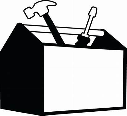 Tool Toolbox Box Clip Clipart Tools Template