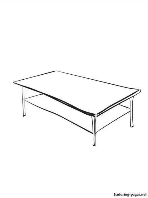 coloring page coffee table coloring pages