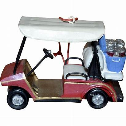 Golf Cart Beer Ornament Christmas Kitschandcouture