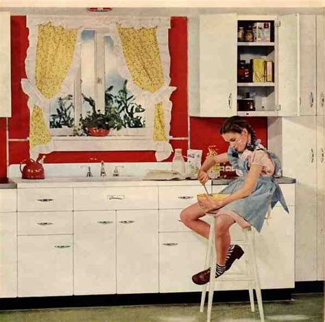 retro kitchen storage a cheery 1945 kitchen to month s end retro renovation 1945
