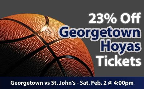 $23 (23% off) Georgetown Hoyas Tickets vs. St. John's ...