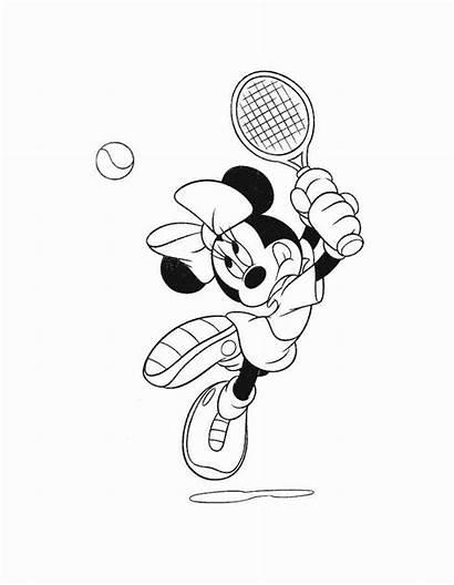 Coloring Mouse Mickey Minnie Cartoons Mermaid Disney