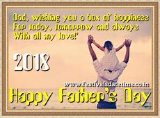 2018 Father's Day Date 17 June 2018 Festivals Dates and