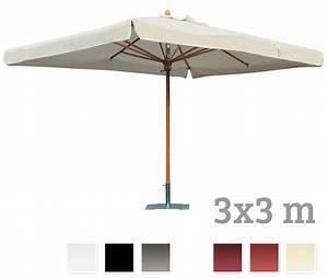 sonnenschirm scolaro palladio standard 3x3 stockschirm With französischer balkon mit sonnenschirm 4 x 4 m