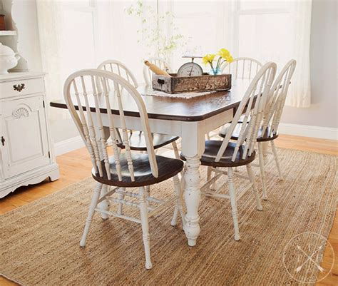 farmhouse dining room table chairs makeover