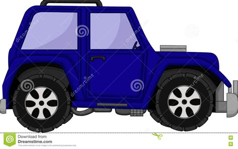 Cute Jeep Car Cartoon Stock Illustration. Image Of