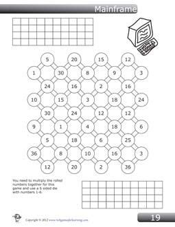 multiplication game  grades   named mainframe
