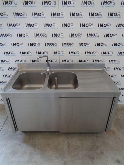 lavello usato lavello armadiato usato con porte scorrevoli in acciaio
