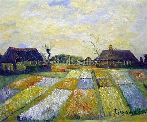 vincent gogh flower beds in bulb field